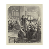 Consecration at Westminster Abbey Giclee Print by Godefroy Durand