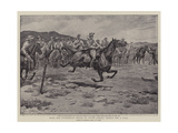 With the Australian Troops in South Africa, Riding for a Fall Giclee Print by Godfrey Douglas Giles