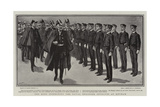 The King Inspecting the Naval Engineer Students at Keyham Giclee Print by Gordon Frederick Browne