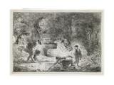 Tobit Burying the Dead, C. 1650 Giclee Print by Giovanni Benedetto Castiglione