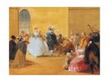 Masquerade Ball Giclee Print by Giuseppe Bernardino Bison