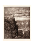 Satan Overlooking Paradise Giclée-tryk af Gustave Dore