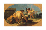 Satyr and Putto with a Tambourine Giclee Print by Giovanni Battista Tiepolo