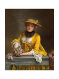 The Yellow Dress Giclee Print by Gustave Jacquet