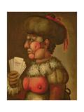 The Lady of Good Taste Giclée-tryk af Giuseppe Arcimboldo