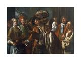 Masquerade, Ca 1750 Giclee Print by Giuseppe Bonito