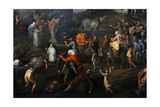 Renaissance. Haycart by Gillis Mostaert (1528-1598). around 1575. Netherlands Giclee Print by Gillis Mostaert