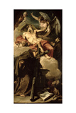 The Apotheosis of St. Jerome with St. Peter of Alcantara and an Unidentified Franciscan Giclee Print by Giovanni Battista Pittoni