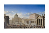 St. Peter'S, Rome Giclee Print by Giovanni Paolo Panini