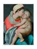 Madonna med barnet Giclée-tryk af Giovanni Battista Rosso Fiorentino