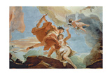 Orpheus Rescuing Eurydice from the Underworld (Detail of the Ceiling) (See also 64555) Giclee Print by Giovanni Battista Tiepolo