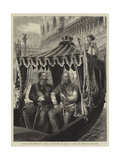 Visit of the Emperor of Austria to the King of Italy at Venice, the Host and His Guest Giclee Print by Godefroy Durand