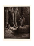 Satan at the Gates of Hell Giclee Print by Gustave Dore