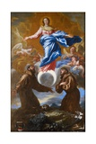 The Immaculate Conception with Saints Francis of Assisi and Anthony of Padua, 1650 Giclee Print by Giovanni Benedetto Castiglione