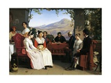 Marriage Contract in Italy, 1831 Giclee Print by Guillaume Bodinier