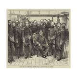 The King of Portugal Visiting HMS Challenger at Lisbon Giclee Print by Godefroy Durand