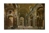 Interior of St. Peter's, Rome, 1731 Giclee Print by Giovanni Paolo Pannini