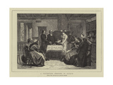 A Protestant Wedding in Alsace Giclee Print by Gustave Brion