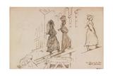 Women Carrying Mortar Giclee Print by Henri Lehmann