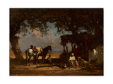 An Arab Encampment, C.1880 Giclee Print by Gustave Guillaumet
