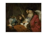 Isaac Blessing Jacob, C.1638 Giclee Print by Govaert Flinck