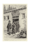 At the Door of the Leper Hospital at Scutari, the Imam Leading a Blind Leper Giclee Print by Henri Lanos