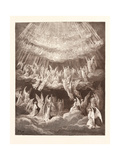 The Heavenly Choir Giclee Print by Gustave Dore