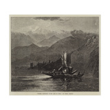 Summer Moonlight on the Lake of Orta Giclee Print by Harry John Johnson