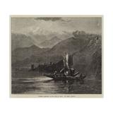 Summer Moonlight on the Lake of Orta Giclee Print by Harry John Johnson