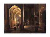 The Interior of a Gothic Church Giclee Print by Hendrik The Younger Steenwyck