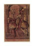Emperor Maximilian I, Armed on Horseback, 1508 Giclee Print by Hans Burgkmair