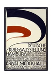 Poster Advertising a War Exhibition Sponsored by the Red Cross Deutsche Kriegsausstellung Giclee Print by  Hartung & Co.