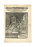 A Goldsmith's Workshop, C. 1538 Giclee Print by Hans Brosamer