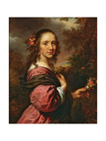 Portrait of a Lady, 1658 Giclee Print by Govaert Flinck