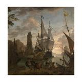 Oriental Seaport Giclee Print by Hendrik van Minderhout