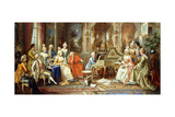 Young Mozart Giving a Recital Giclee Print by H. Pihnnero