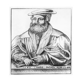 Portrait of Hans Sachs, 1545 Giclee Print by Hans Brosamer