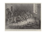 A Visit to a Turkish Prison, Prisoners in the Salon, or Main Hall, Amusing Themselves Giclee Print by Henri Lanos