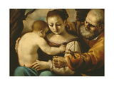 Holy Family Giclee Print by  Guercino