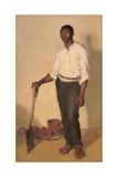 Portrait of a Negro Gardener, C. 1905 Giclee Print by Harold Gilman
