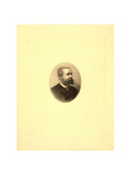 Gaston Tissandier, French Balloonist, Bust-Length Oval Portrait Giclee Print by Henri Thiriat