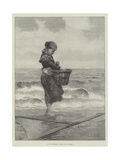 A Young Shrimper Giclee Print by Hector Caffieri