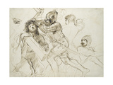 Christ Carrying the Cross, C.1625 - 1628 (Pen and Brown Ink on White Paper) Lámina giclée por  Guercino