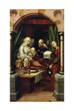 Birth of Virgin, 1512, by Hans Fries (Ca 1460-After 1518), Oil on Panel, Switzerland, 16th Century Giclee Print by Hans Fries