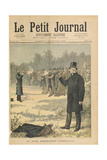 The Duel Between Paul Deroulede (1846-1914) and Georges Clemenceau (1841-1929) Illustration from 'L Giclee Print by Henri Meyer