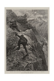 Among the Brigands, a Chase over the Mountains of Corsica Giclee Print by Henri Lanos