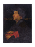 Portrait of Huldrych Zwingli (1484-1531) (Panel) Giclee Print by Hans Asper