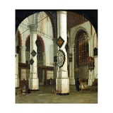 Interior of the Oude Kerk at Delft, 1660-75 Giclee Print by Hendrik Cornelisz van Vliet