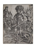 St. George on Horseback, C.1510 Giclee Print by Hans Burgkmair