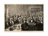 A Savage Club Dinner, a Portrait Group Giclee Print by Harry Hamilton Johnston